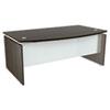 Alera SE227242ES SedinaAG Series Bow Front Desk Shell, 72w x 42d x 29-1/2h, Espresso ALESE227242ES ALE SE227242ES