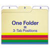FindIt File Folders, 1/3 Cut, 11 Pt Stock, Letter, Assorted, 80/PK