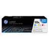 CE259A (HP 125A) Toner Cartridge, 1,400 Page-Yield, 3/Pk, Cyan, Magenta, Yellow