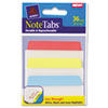 Avery NoteTabs-Notes, Tabs and Flags in One, Blue/Green/Red/Yellow, Three Inch, 36/PK