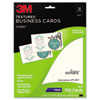 3M Inkjet Textured Business Cards, 2 x 3 1/2, White, 100/PK