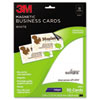 3M Inkjet Magnetic Business Cards, 2 x 3 1/2, White, 10/Sheet, 30/Pack