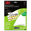 3M Smooth Edge Business Cards, Inkjet, 2 x 3 1/2, White, 200/PK