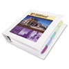 "Framed View Binder with One Touch EZD Rings, 2"" Capacity, White"