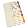 Table of Contents Index Dividers, 1-8, Multicolor, 14 x 8-1/2
