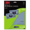 3M Inkjet Metallic Business Cards, 2 x 3 1/2, Blue, 50/PK