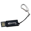 Innovera COB Flash Drive, 4 GB, USB 2.0, Black