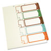 Table of Contents Index Dividers, 1-5, Multicolor, 11 x 8-1/2