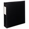 "Durable EZ-Turn Ring Reference Binder W/ Label Hldr, 5-1/2 x 8-1/2, 2"" Cap, BLK"