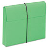 Smead Two Inch Accordion Expansion Wallet with String, Letter, Green, 10/BX