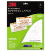 3M Inkjet Parchment Business Cards, 2 x 3 1/2, White, 50/PK