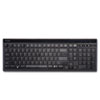 Kensington Slim Type Standard Keyboard, 104 Keys, Black/Silver