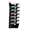 Grande Central Filing System, Seven Pocket, Wall Mount, Plastic, Black