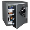 Combination Fire-Safe, 1.23 ft3, 16-3/8w x 19-3/8d x 17-7/8h, Gray