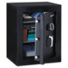 Executive Fire-Safe, 3.4 ft3, 21-3/4w x 19d x 27-3/4h, Black