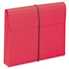 Smead Two Inch Accordion Expansion Wallet with String, Letter, Red, 10/BX