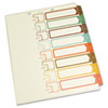 Table of Contents Index Dividers, 1-8, Multicolor, 11 x 8-1/2