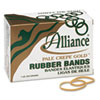 Alliance Pale Crepe Gold Rubber Bands, Size 32, 3 x 1/8, 1lb Box