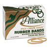 Pale Crepe Gold Rubber Bands, Size 33, 3-1/2 x 1/8, 1lb Box