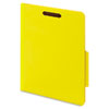 "40 Pt. Classification Folders, 2"" Fasteners, 2/5 Tab, Letter, Yellow, 10/BX"