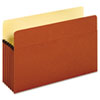 Bulk File Pockets, 5 1/4&quot; Expansion, Legal, Redrope, 50/CT