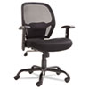 Alera Merix450 Series Mesh Big/Tall Mid-Back Swivel/Tilt Chair, Black