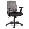 Eikon Series Mesh Manager's Synchro-Tilt Mid-Back Chair, Gray