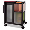 Impromptu Mobile Storage Center w/Hanging File, 23-1/2 x 17-3/4 x 26-3/4, Black