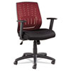 Eikon Series Mesh Manager's Synchro-Tilt Mid-Back Chair, Burgundy