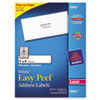Easy Peel Laser Address Labels, 1 x 4, White, 5000/Box