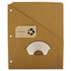 Guided RePouch Recycled Slash Pocket Insert, Letter Size, Brown Kraft, 5/Pack