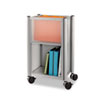 Impromptu Mobile Storage Center, 16-1/2w x 11d x 26-3/4h, Metallic Gray