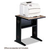 Fax/Printer Stand w/Reversible Top, 1-Shelf, 23 1/2 x 28 x 30, Medium Oak/Black