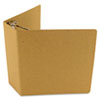 "Select Zero Waste Chipboard Binder, 4"" Capacity, 8-1/2 x 11, Brown Kraft"