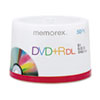 Memorex Dual-Layer DVD+R Discs, 8.5 GB, 50/Pk
