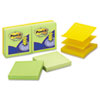 Post-it Pop-up Notes Pop-up Apple Dispenser Refills in Bright Colors, 3 x 3, 6 100-Sheet Pads/Pack