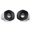 Logitech Z110 Stereo Speakers, 3.5mm, USB, 2.4W, 3-1/2h x 4w x 3-1/2d, Black