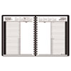 Recycled 24-Hour Daily Appointment Book, Black, 6 7/8&quot; x 8 3/4&quot;, 2013
