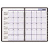 "Recycled Monthly Planner, Black, 7 7/8"" x 11 7/8"", 2012-2014"
