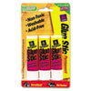 Clear Application Permanent Glue Stic, .26 oz, Stick, 3/PK