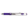 High Capacity Roller Ball Stick Gel Pen, Purple Ink, Medium 0.7mm, Dozen