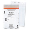 Tamper-Evident Deposit Bags, 9 x 12, White, 100 per Pack