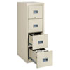 Patriot Insulated 4-Drawer Fire File, 17-3/4w x 25d x 52-3/4h, Parchment