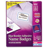 Flexible Self-Adhesive Laser/Inkjet Name Badge Labels, 2-1/3 x 3-3/8, BE, 400/Bx