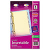 Avery WorkSaver Insertable Tab Index Dividers, 5-Tab, 8-1/2 x 5-1/2, Clear, Five