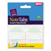 Avery NoteTabs-Notes, Two Inch Tabs and Flags in One, Pastel Blue/Green/Clear, 40/Pack