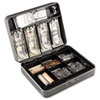 Cash Box with Combination Lock, 12 in, Charcoal