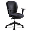 Safco Rae Series Synchro-Tilt Task Chair, Black