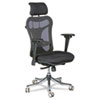 BALT Ergo Ex Executive Office Chair, Mesh Back/Upholstered Seat, Black/Chrome