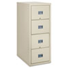 Patriot Insulated 4-Drawer Fire File, 20-3/4w x 31-5/8d x 52-3/4h, Parchment